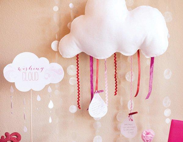 baby shower wishing cloud