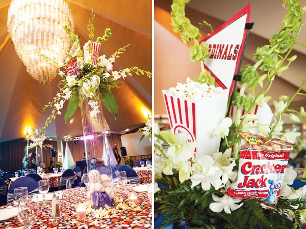 baseball centerpiece ideas