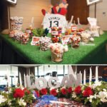 baseball diamond dessert table