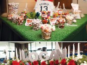 baseball diamond dessert table