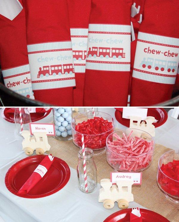 chew chew napkin printables