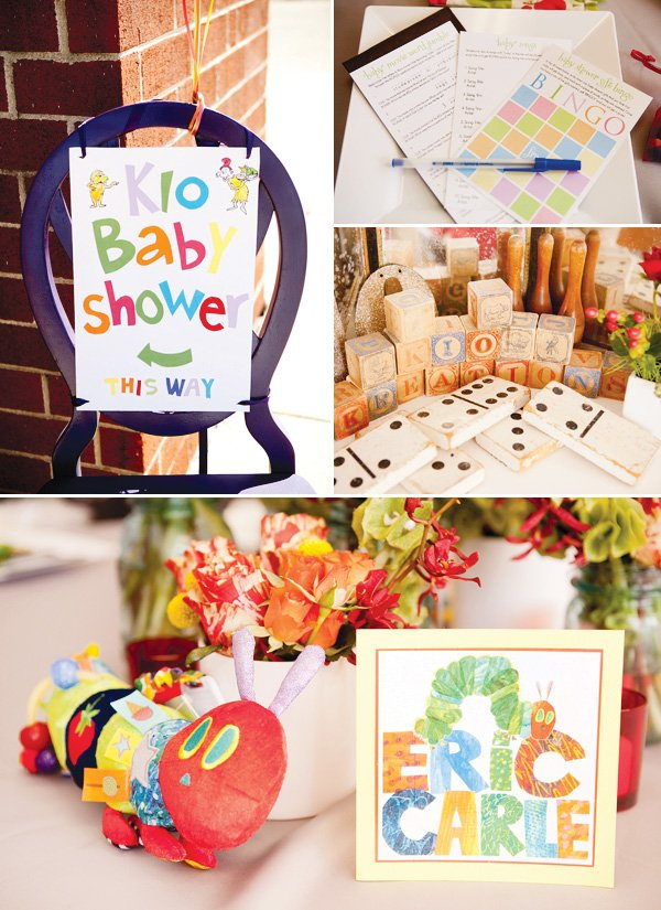 children's book baby shower theme