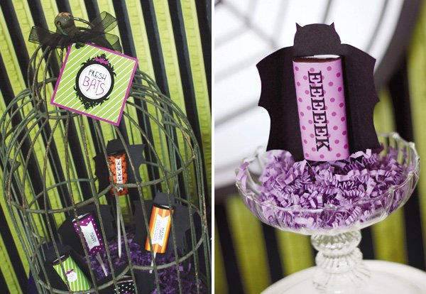 haunted house party bats