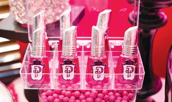 Chocolate nail polish party favors