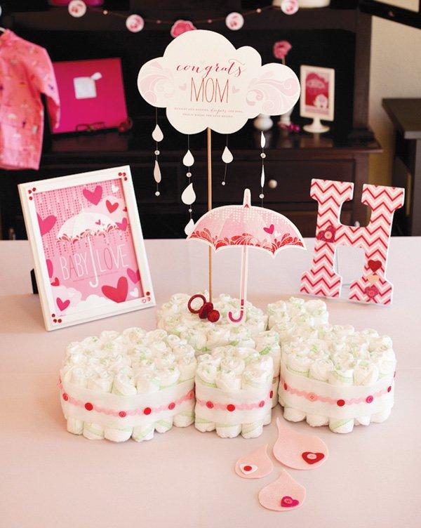 cloud diaper cake