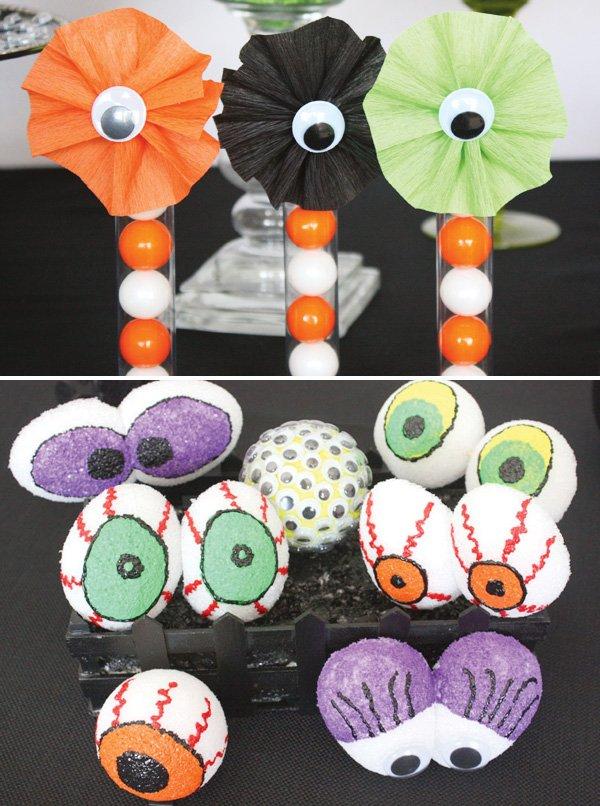 crepe paper rosettes for gum ball tubes