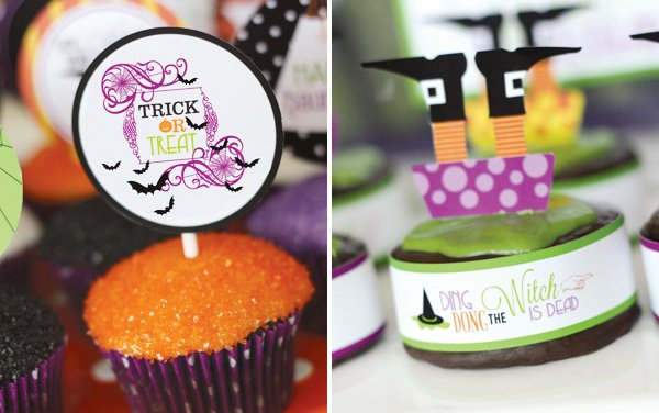 cupcake ding dong the witch is dead toppers