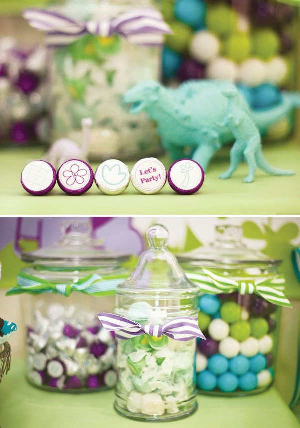 Dinosaur party candy