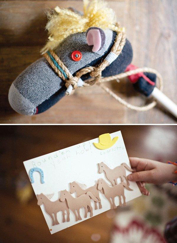 DIY sock puppet riding horse