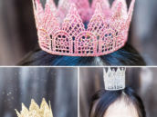 diy tutorial glitter lace crowns