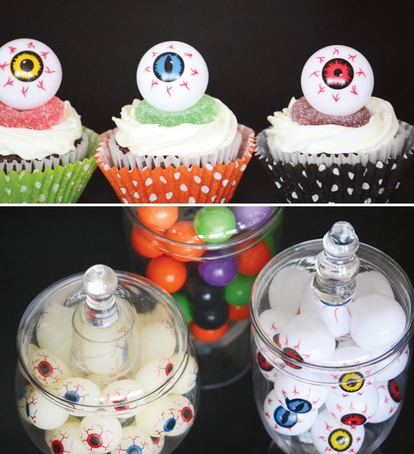 eyeball cupcake toppers