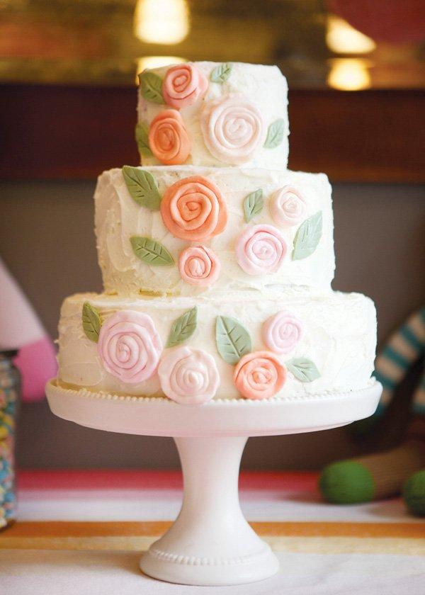 flower first birthday cake