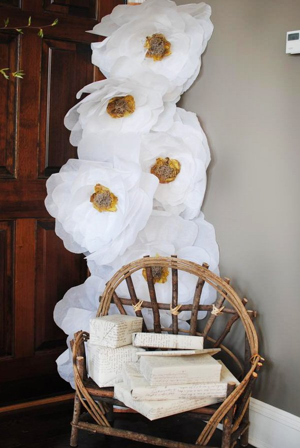giant DIY tissue paper flowers