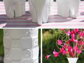 girly circus elephant centerpiece