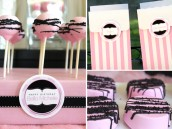 girly circus cakepops and chocolate covered oreos and favor boxes