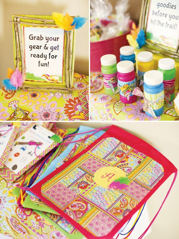 groovy camping party favors