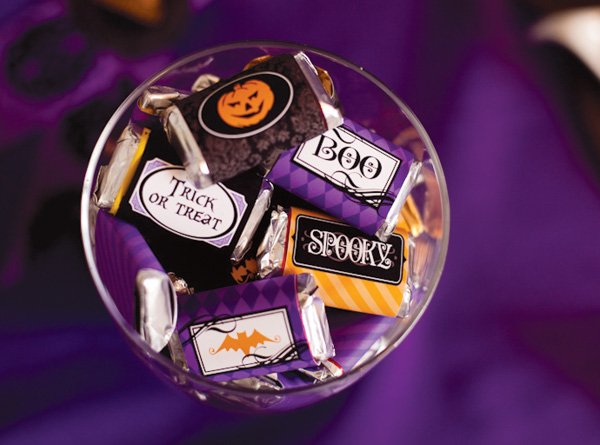 Halloween candy wrapper printables