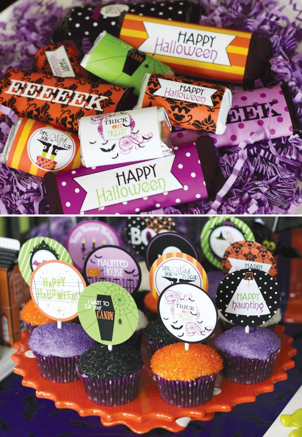 halloween chocolate wrappers