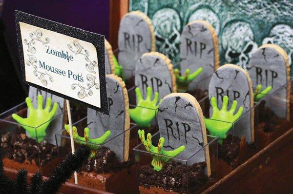 Zombie mousse desserts