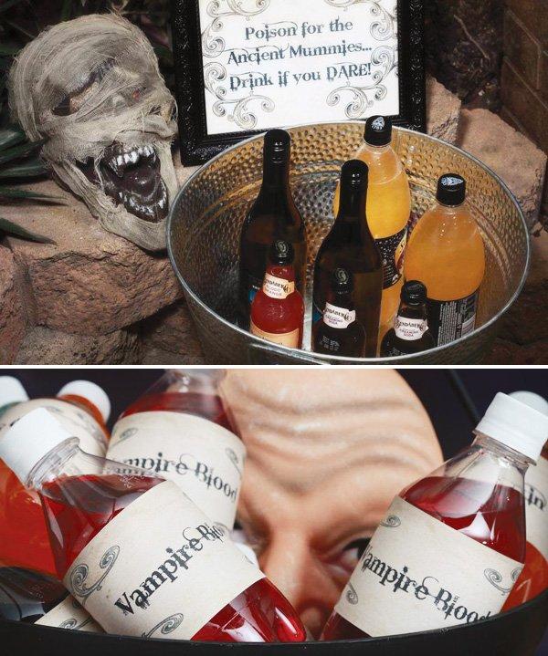 Halloween drink label printables