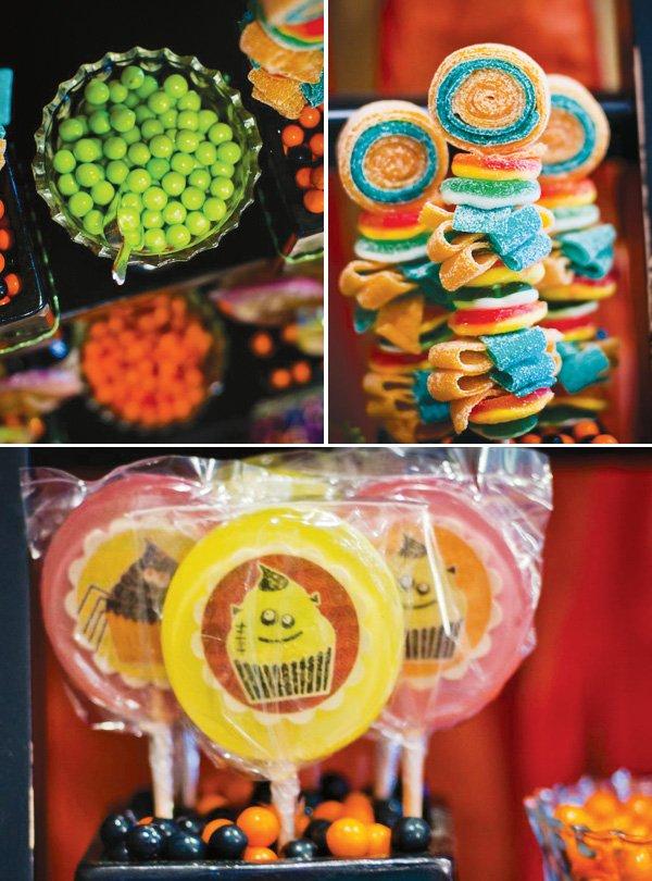 halloween gummy lollipops