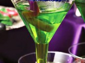 Halloween jello martini