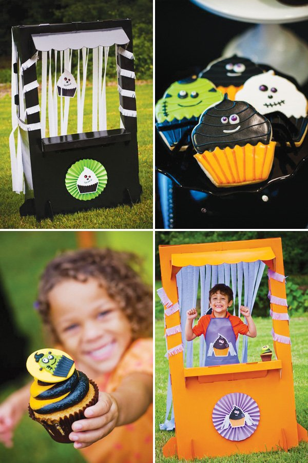 halloween monster cupcake party