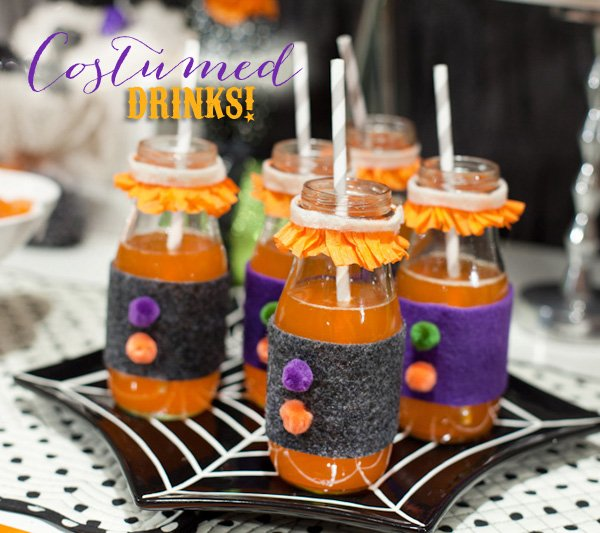 DIY project - kids halloween party drink ideas