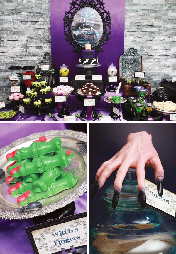 Haunted Halloween party desserts