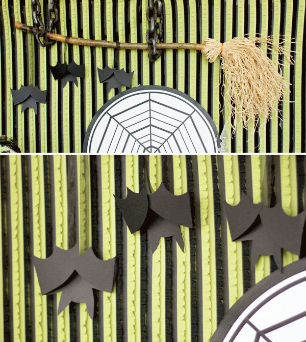 halloween ruffle backdrop