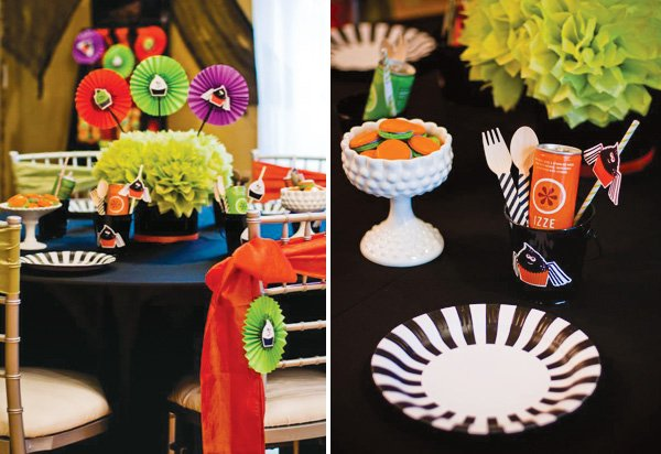 Halloween tablescape for kids
