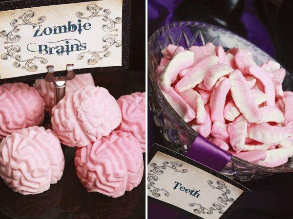 Halloween zombie brain desserts