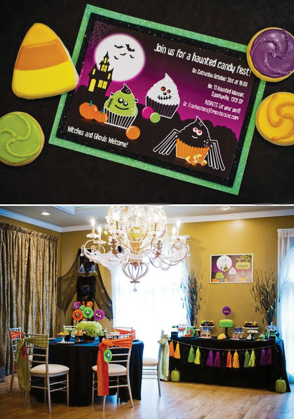 haunted candy fest invitation
