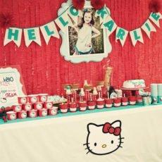 hello kitty birthday party with a sundae bar