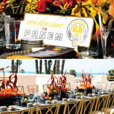 hunger games bridal shower tablescape