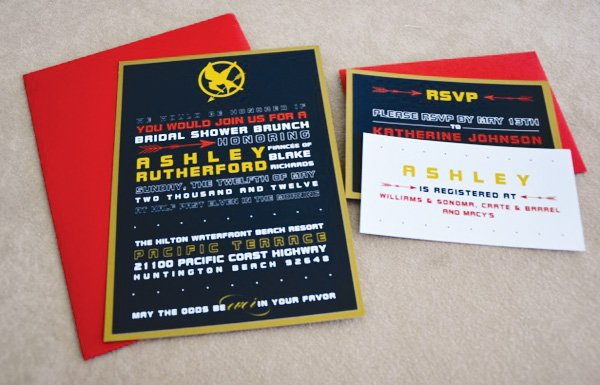 hunger games invitation