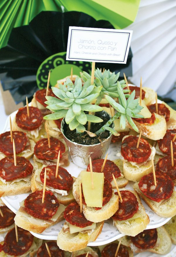spanish bridal shower jamon spanish appetizer
