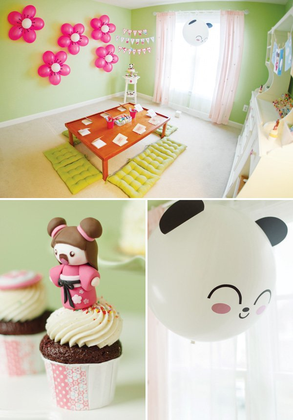 kawaii love panda balloon