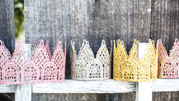lace crowns diy