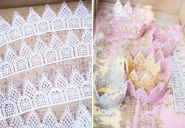lace crown diy steps