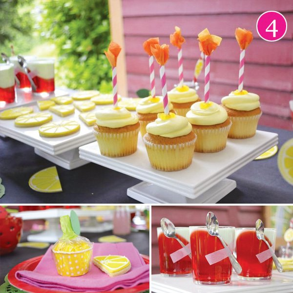 lemonade and strawberries party