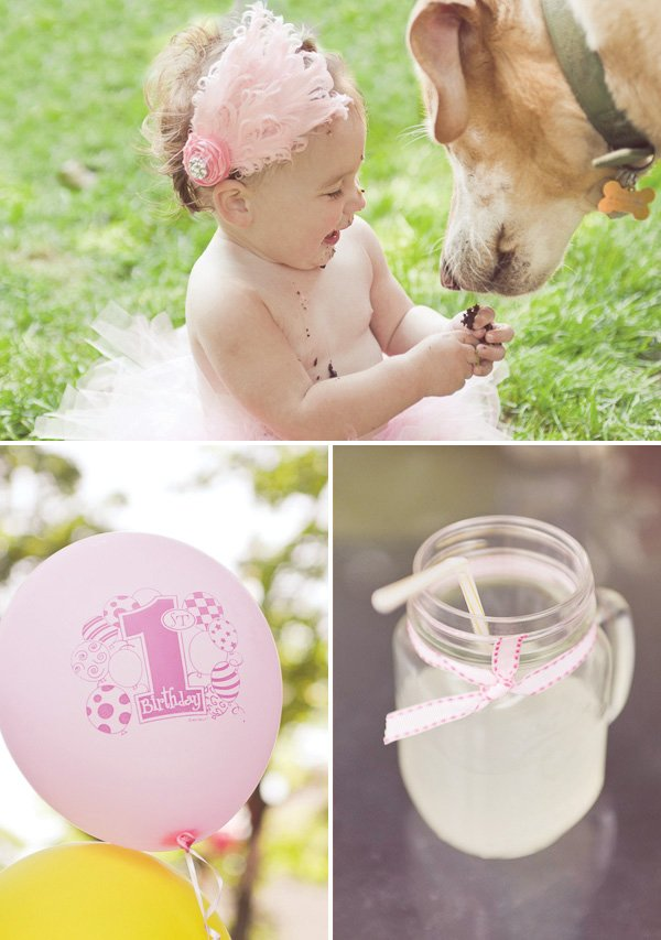 lemonade and tutu first birthday party