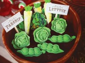 veggie cupcake toppers