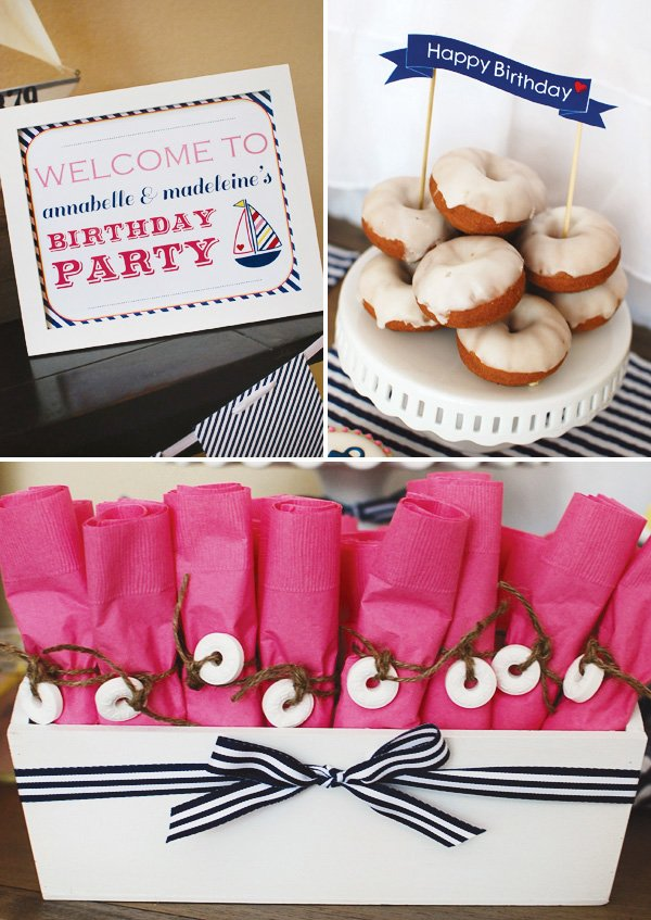 Lifesaver napkin rings