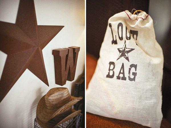 Cowboy loot favor bags