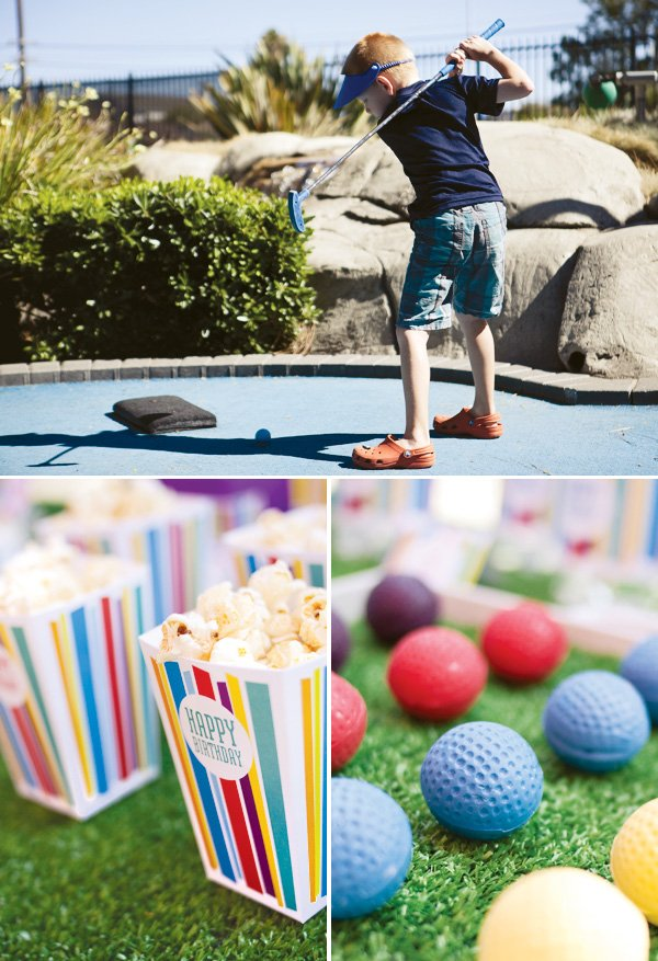 mini golf birthday party