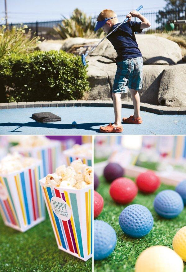 mini golf birthday party