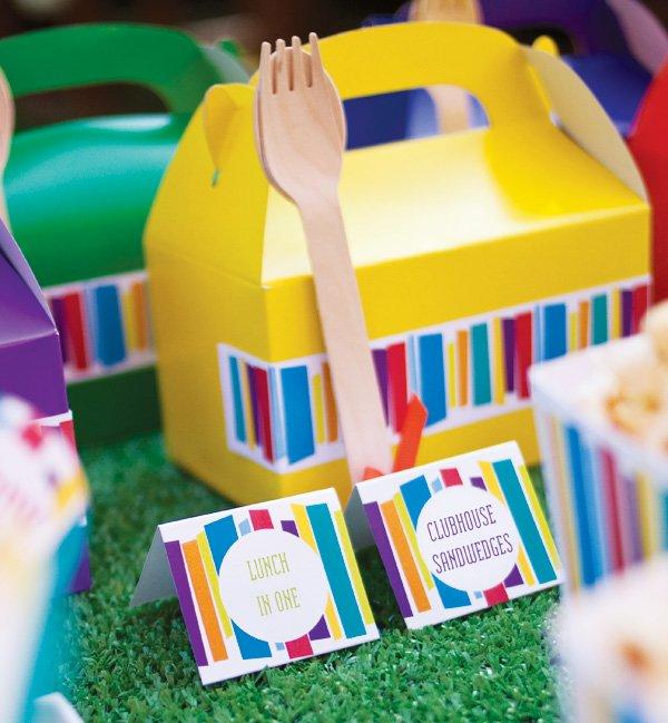 mod stripe lunch box