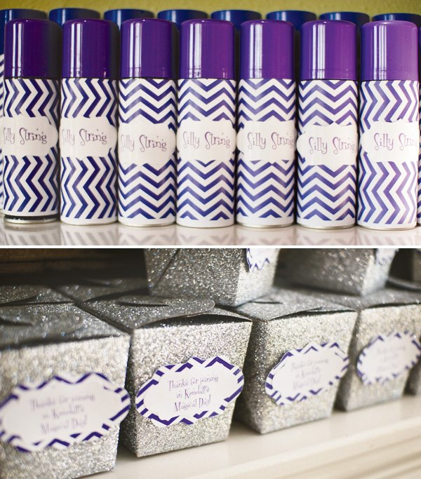Purple chevron favors