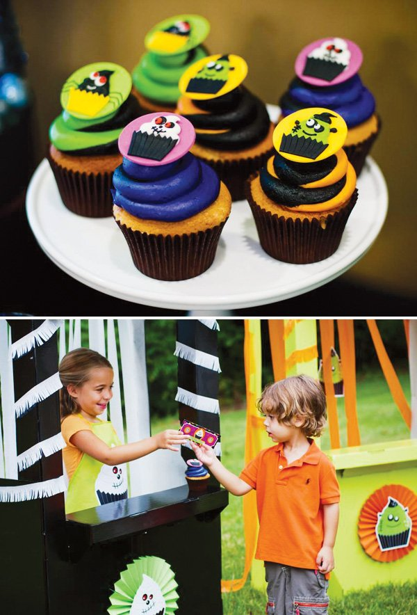 monster cupcake party